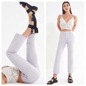 NWT UO Lavender High Waisted Crop Flare Jeans